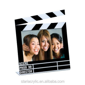 "Acrylic Movie Clapboard Photo Frame (7"" x 5""), Picture frame, Plexiglass Photo Holder"