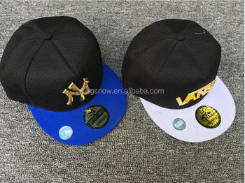 4f131b68 gold plate new design custom hawaii floral printing embroidery yupoong snapback  cap hat with metal logo
