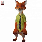 Animal Resin Fiberglass Statue Life Size for Nick Wilde