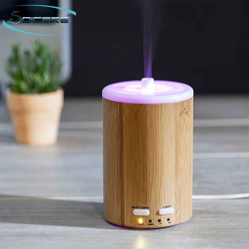 Best natural bamboo ultrasonic aroma esential oil diffuser with led light