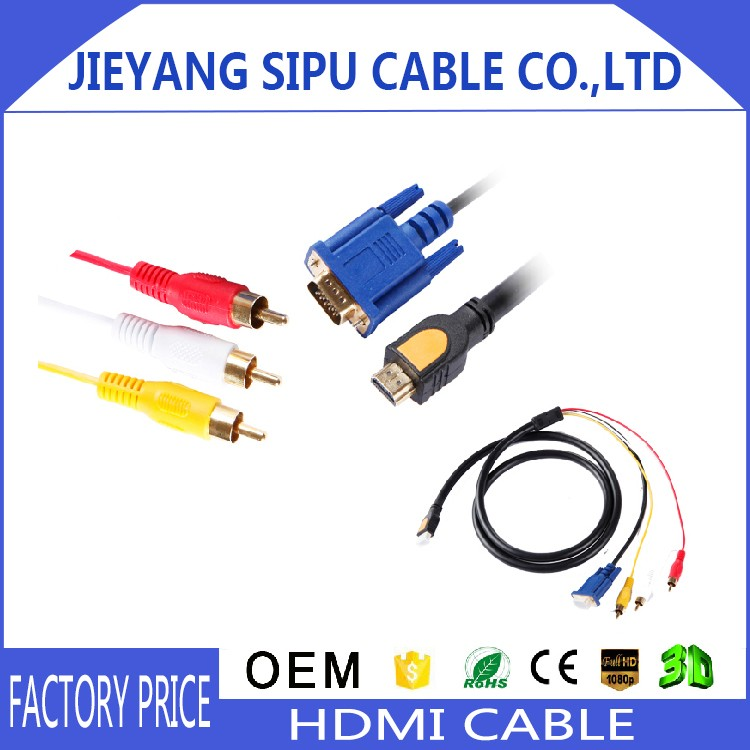 China Wholesale 1.5m vga to rca cable converter