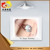 Elegant purity prong setting 925 silver natural burma jadeite ring