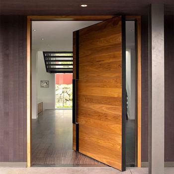 Artistic Main Entrance Antique Apartment Door Design Teak Wood Doors Polish Color Ply Board Church