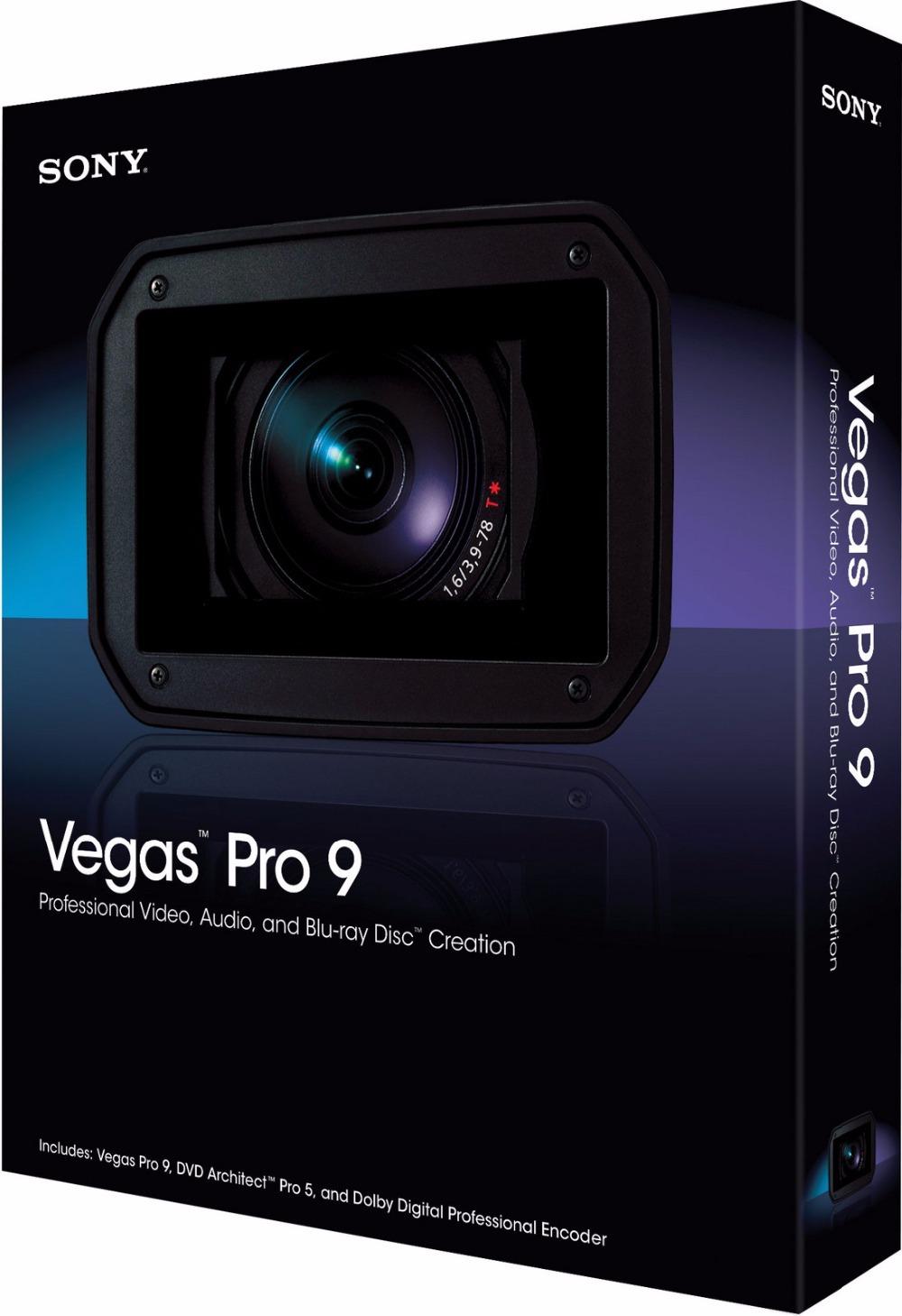 Профессиональное видео программное обеспечение для редактирования Vegas PRO V9.0 пк программное обеспечение английская версия полностью функциональна
