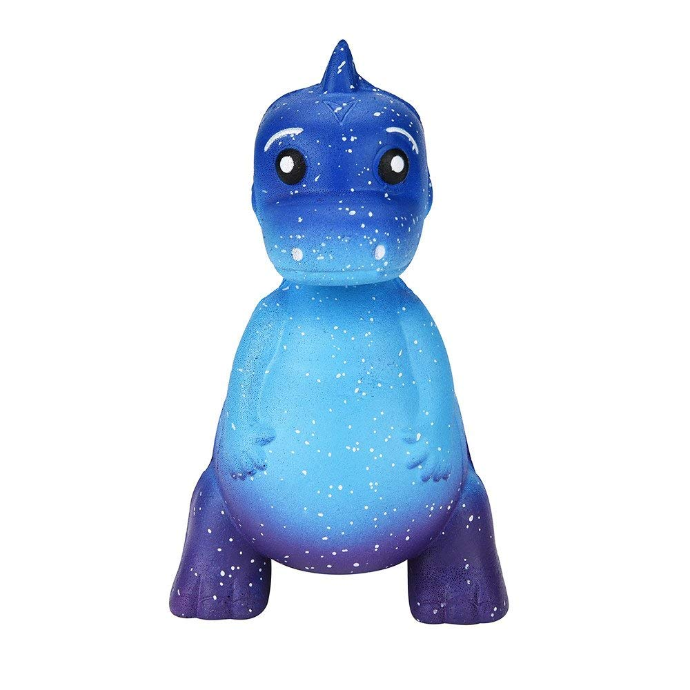 Cute Galaxy Dinosaur Stress Relief Toy,Kawaii Jumbo Cream Scented Squishies Slow Rising Decompression Squeeze Toys,for Kids or Adults, Decorative Props (B)