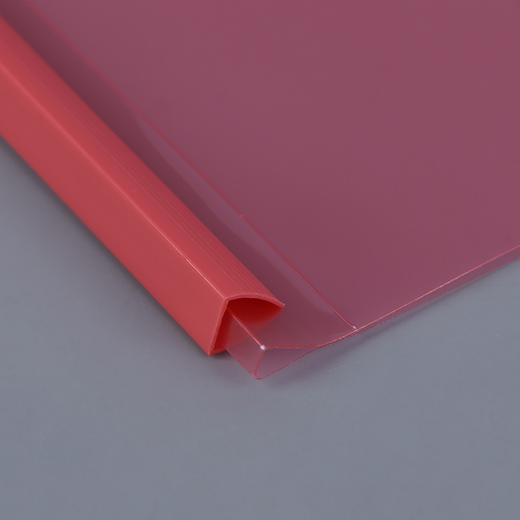 Customized design transparent a4 pp file sheet protector with slide bar