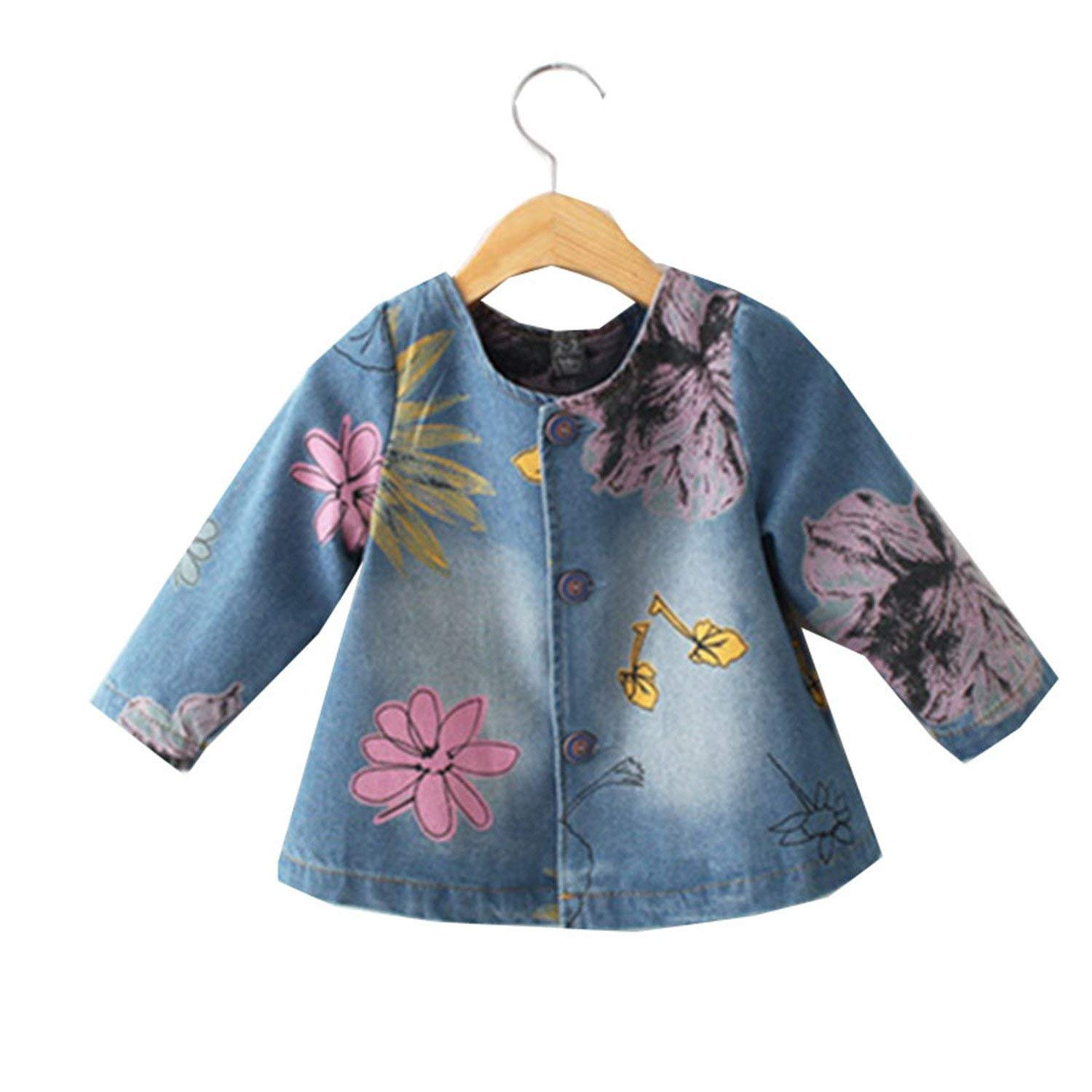 3422108ec Buy Nelliewins Denim Jacket For Girls Toddler Jeans Coat Spring ...