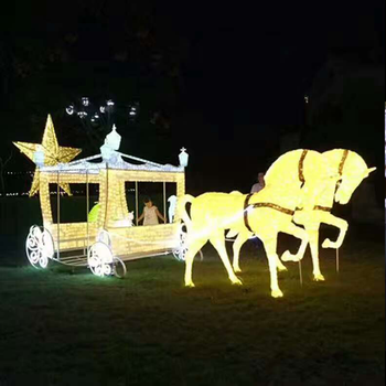shopping mall led used carriages for sale for outdoor christmas decoration