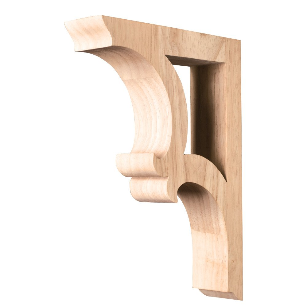 "One Pair of Solid Wood Bar Brackets. 1-7/8"" x 7-1/2"" x 10-1/2""."