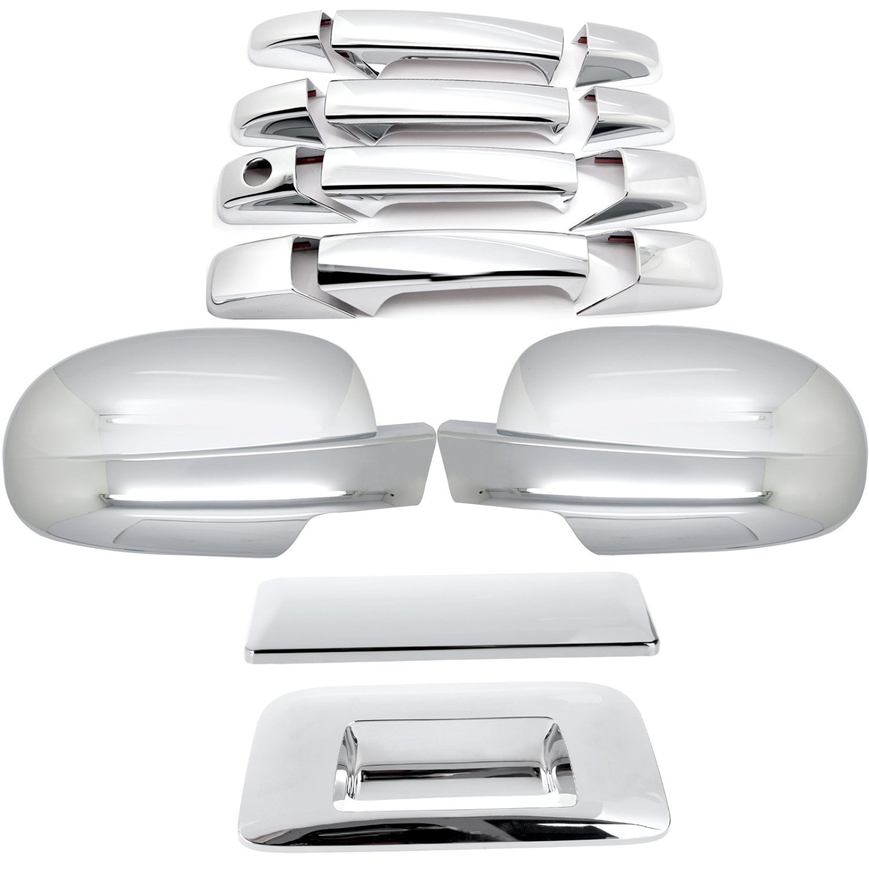 ECCPP Chrome Mirror Cover+4 Door Handle+Tailgate For 07-13 Chevy Silverado/GMC Sierra