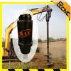 Hydraulic hole digging tools earth drill soil auger for excavator used