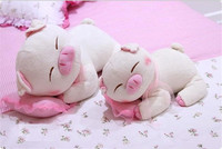 Wholesale extremely cute sleeping pink pig plush toy for sale