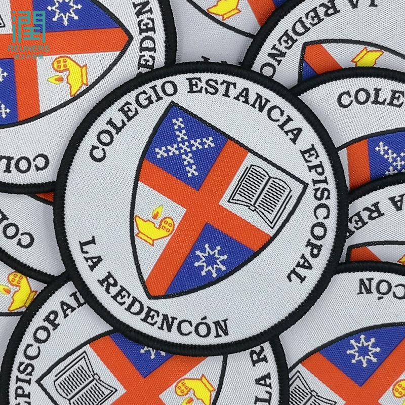 Hohe Qualität Gewebt Abzeichen Custom Marke Logo-Patches Für Kleidung