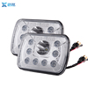 square 7 inch 45W led front head lamp with angel eyes for truck for jeep tractor