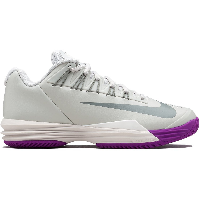 Nike Womens Lunar Ballistec 1.5 Tennis Shoe Silver/Purple (Size 5) 705291-