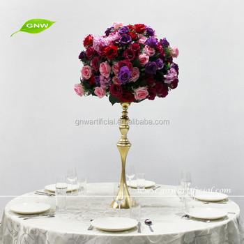 Gnw Ctr1601001 Low Cost Wedding Centerpieces Flower Ball Stand Centerpieces With Artificial Rose Buy Low Cost Wedding Centerpieces Crystal Ball