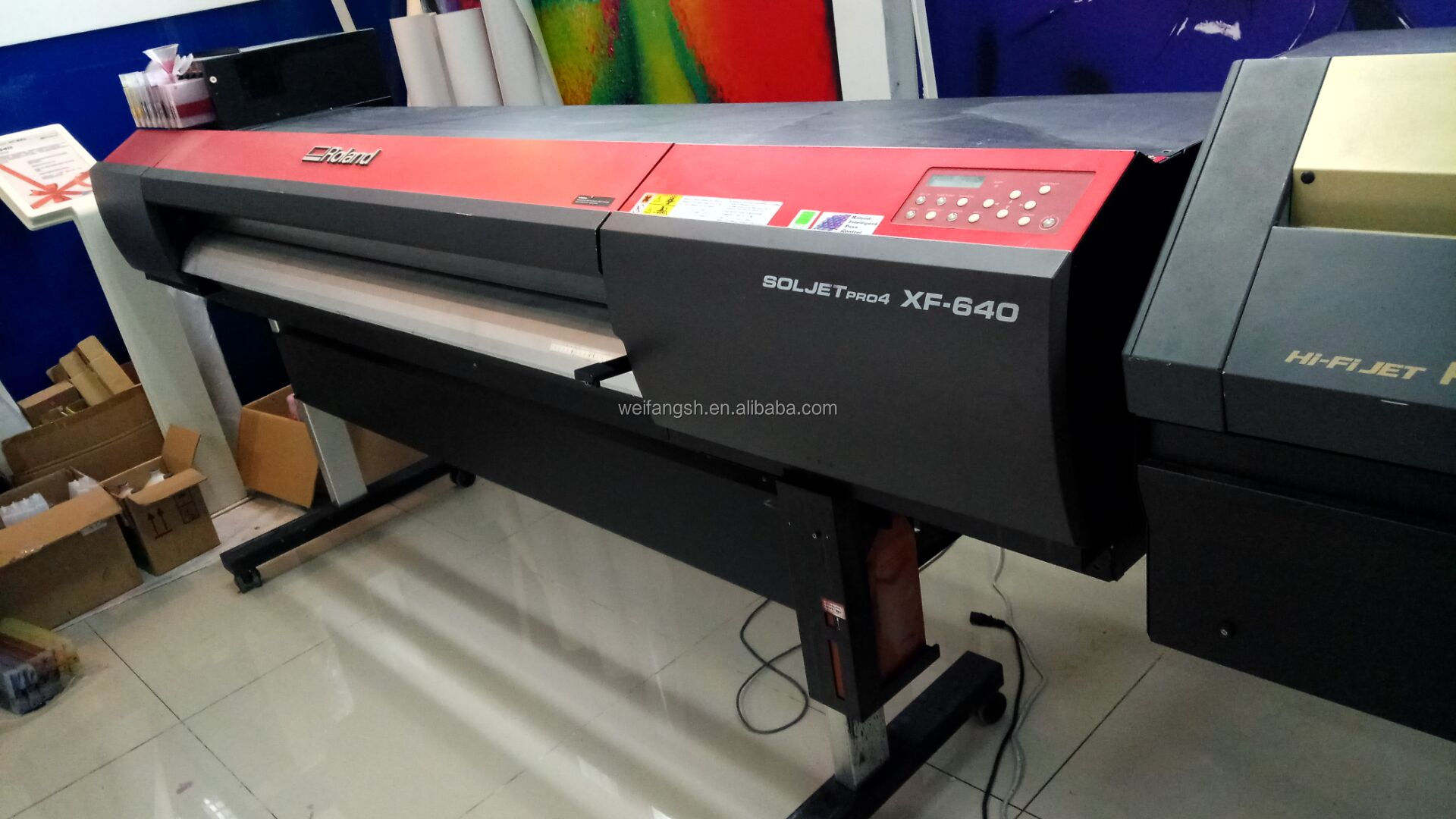 Factory Price Second Hand Used 1.6M Textile Inkjet Printer XF640 with 2pc DX7 Printhead