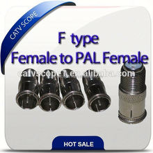 F type female to PAL connector/catv connector