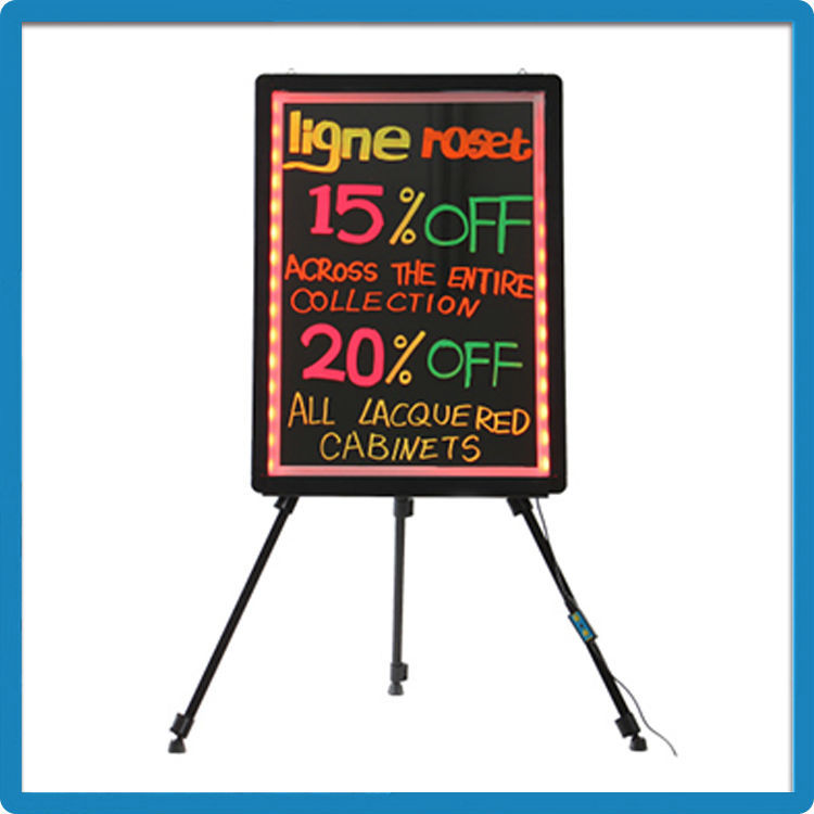 Best Selling ZD Neon Light Words CE/ROHS/FCC Pad Design Aluminum Alloy Frame Advertising Display Board