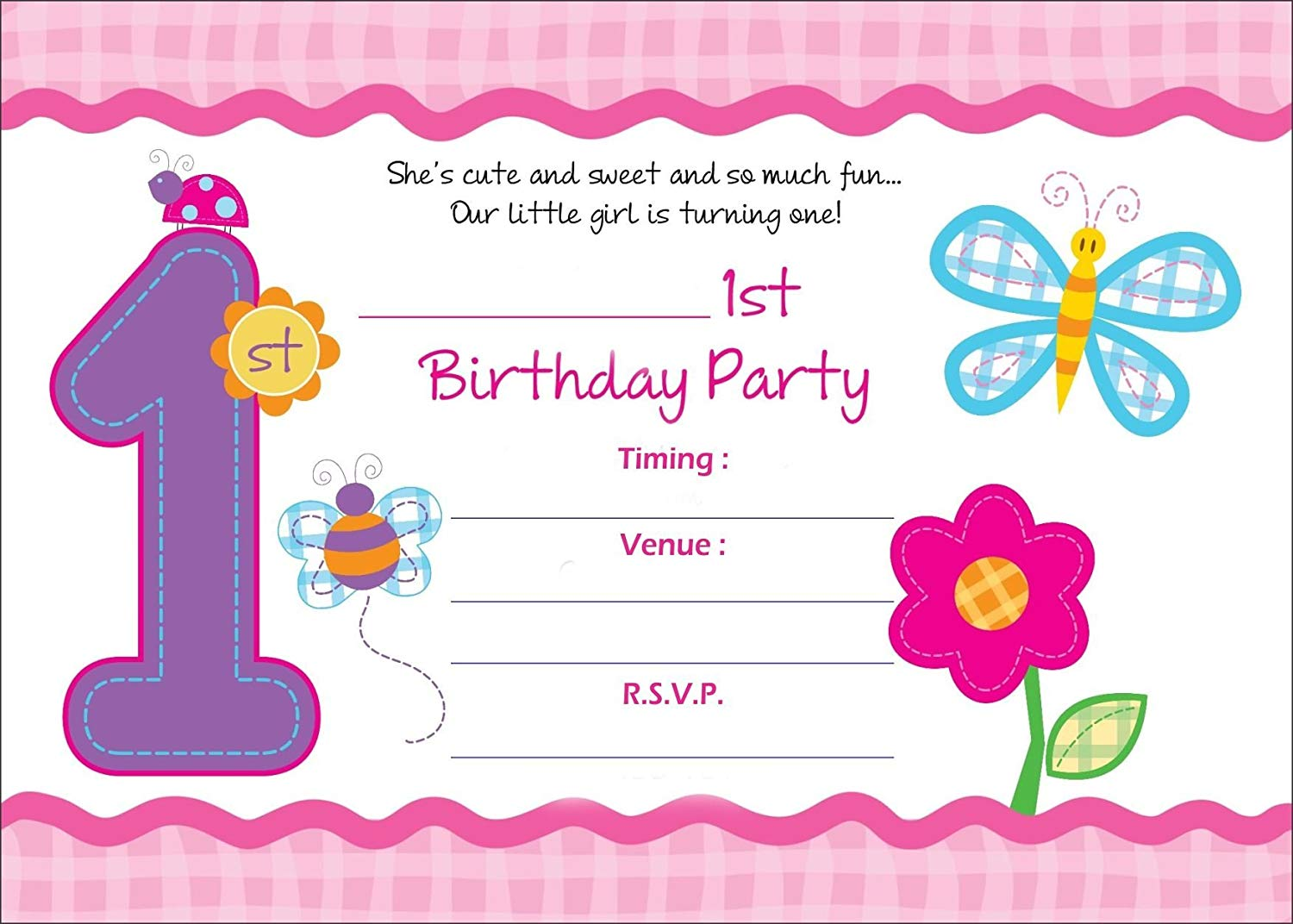Get Quotations Askprints Birthday Metallic Card Invitations With Envelopes
