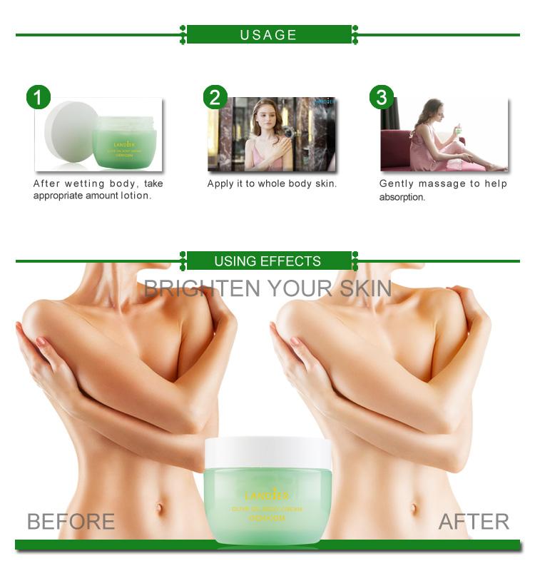 OEM/ODM Olive Refreshing Body Cream for Dry Skin