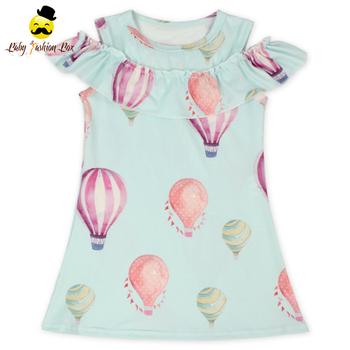 Benutzerdefinierte Drucken Heißluftballon Kleider Stilvolle Cold ...
