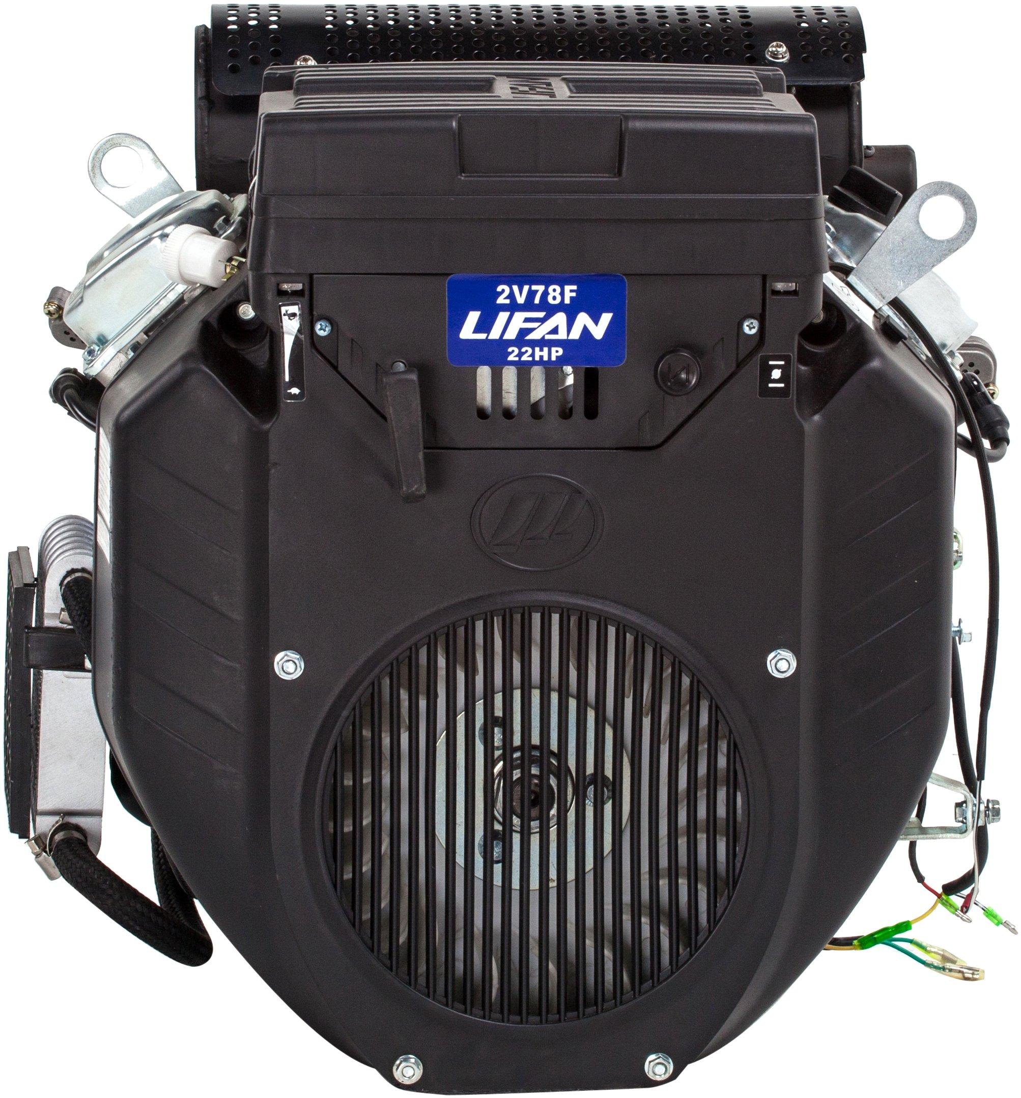 Get Quotations · Lifan LF2V78 2DQT Industrial Grade 22 HP 688cc V Twin 4 Stroke OHV