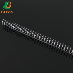 Different Size And Color Nylon Coated Book Binding Metal Spiral For Office Binding