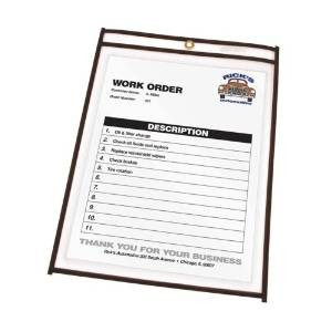 "C-Line Products, Inc. Shop Ticket Holder, Stitched, 9""X12"", 25/Bx, Clear Vinyl - C-Line Products, Inc. Shop Ticket Holder, Stitched, 9""X12"", 25/Bx, Clear Vinylticket Holders Offer Heavy-Duty Clear Vi"