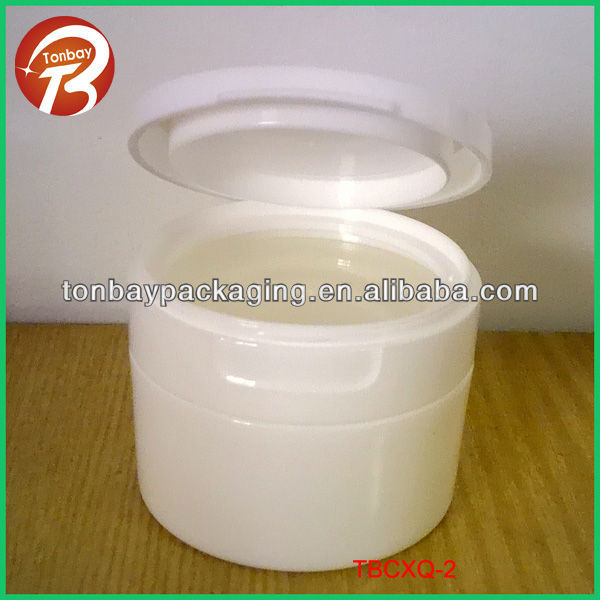 120ml PP Flip top cap plastic cream jar plastic jar with flip top capTBCXQ-2