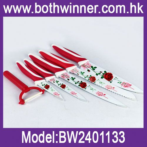 6pcs non-stick knife set ,h0t8VG 6 pieces knife set for sale