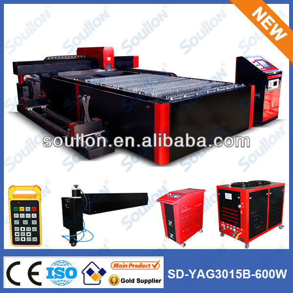 Soullon laser- 3000mm*1500mm yag CNC industry laser equipment with large cutting area for thin plate