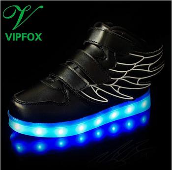 ebb390b2ee443 L école De Dessin Animé Portable Chaussures Enfants En Vrac Couvre LED  S allume