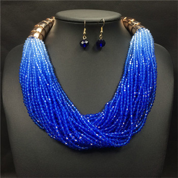 36daa361e Wholesale Fashion Costume Jewelry Bohemian Multilayer Colorful Bead  Statement Necklace Earrings Set