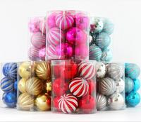 Decorative personalised colorful plastic Christmas Balls set