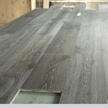 Dark Gray Oak Engineered Wood Flooring Grey Floors White Washed