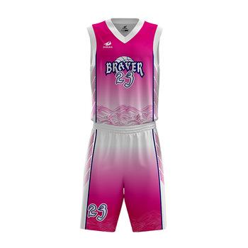b275d569ec5 ZHOUKA Customized Basketball Jersey Uniform Design Color Pink Women Basketball  Uniform Design For Basketball Team Wear