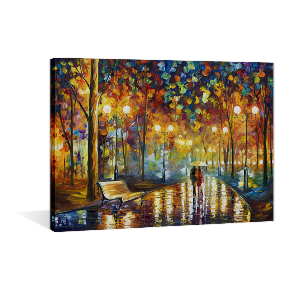 Modern LED Painting Printed Oil Canvas Scenery Wall Hanging Art Paintings