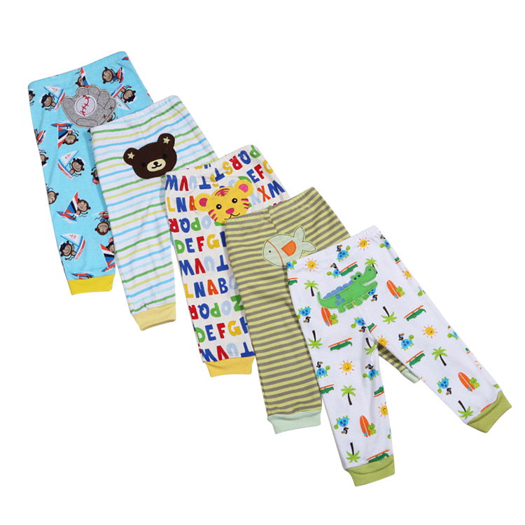 Baby long pants unisex baby boy girl pant 5 pcs mix color pants