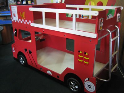 Double Decker Fire Engine Bunk Bed Product On Alibaba