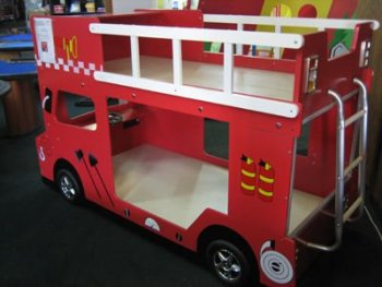 Double Decker Fire Engine Bunk Bed Buy Fire Engine Bunk Bed