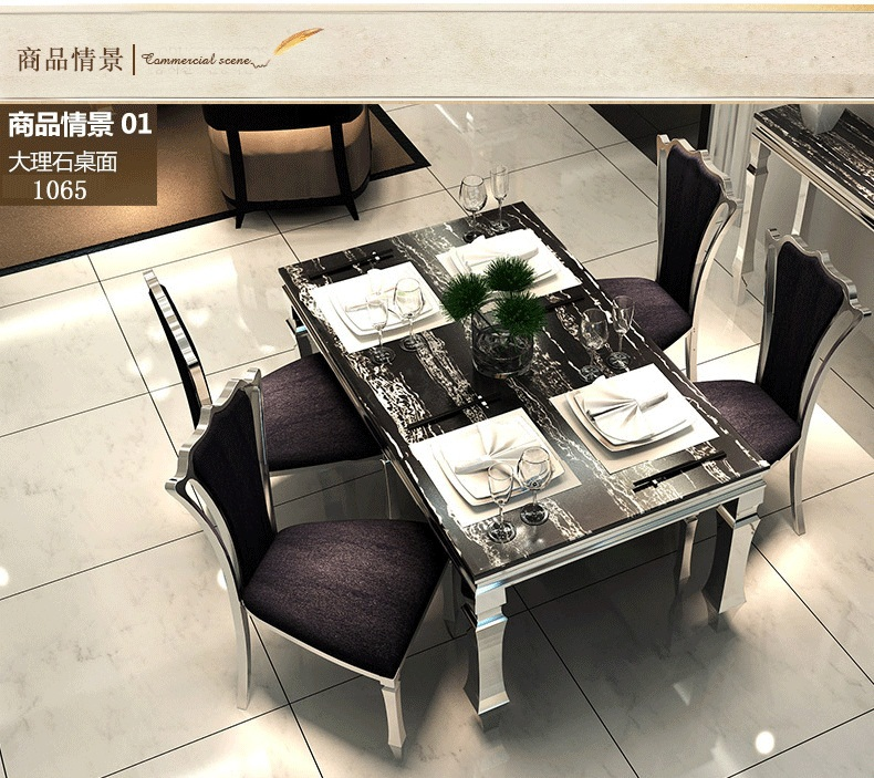 Affordable Dining Table Set: Dining Table Sets Black Marble Dining Table 4 Chairs