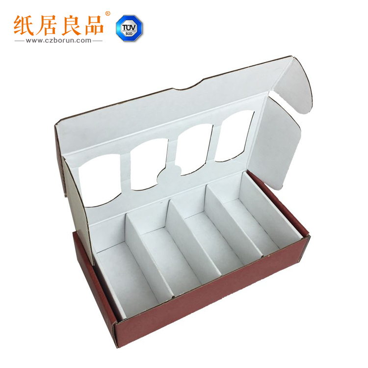 recycled material e corrugated paper custom design drink packing box