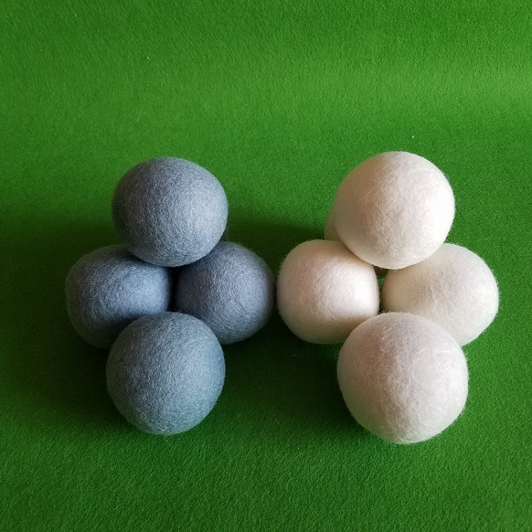 Free sample xl 6 pack 100% organic wool felted balls for chothes drying