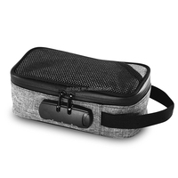 Smell Proof Case with Combo Lock and Carbon Fiber for Smoking Pipes,Grinders,Herbs and Tubes