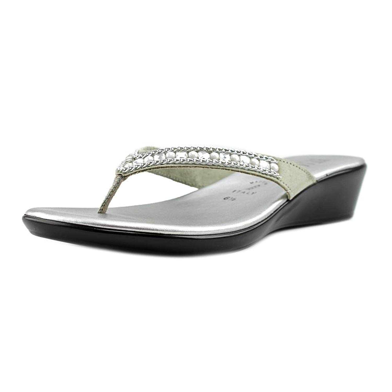 53d5c5386edc Buy Italian Shoe Makers Hartley Women US 8.5 Silver Thong Sandal in ...