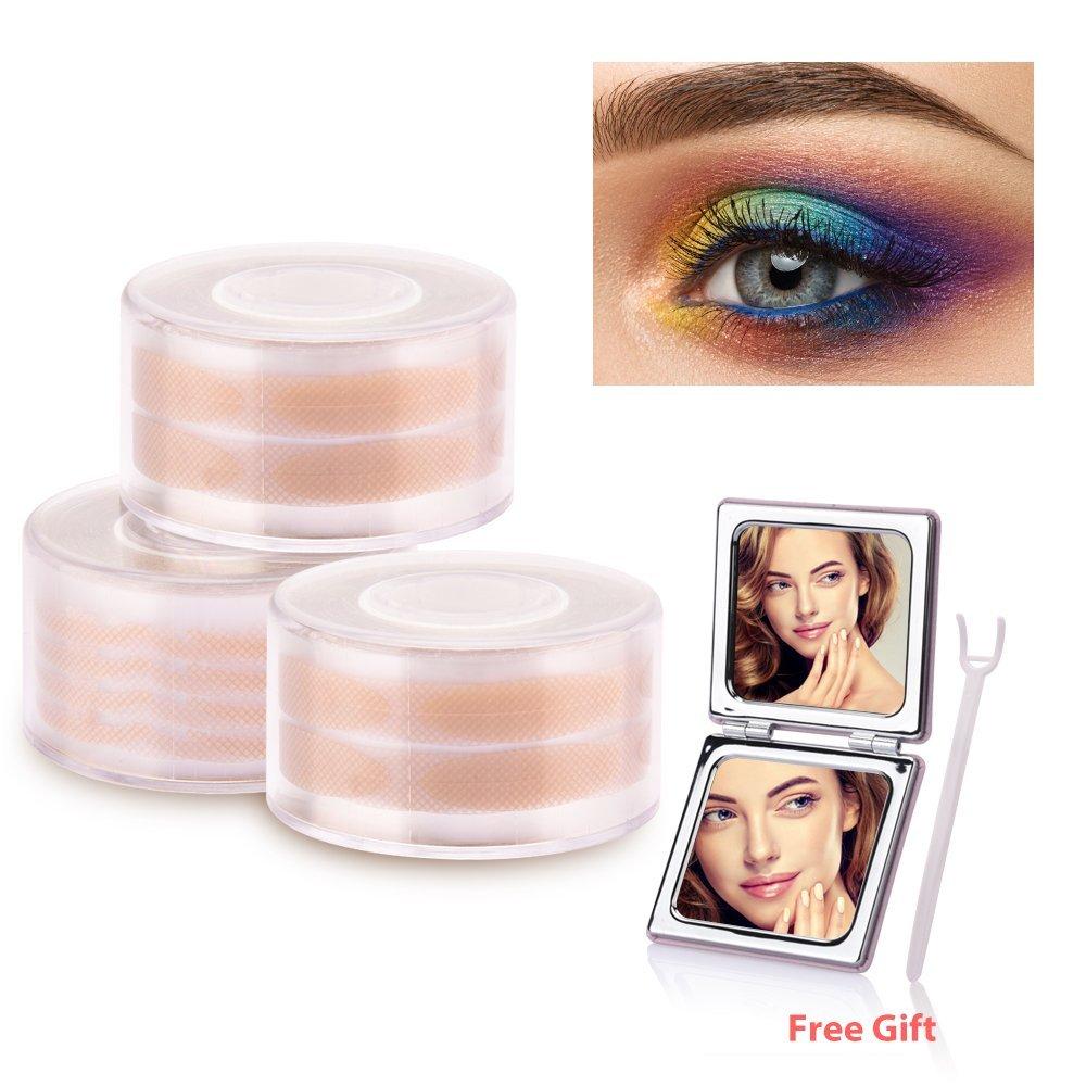 2e3ffbd4047 Get Quotations · HailiCare 1800 Pcs Double Eyelid Tape Invisible Makeup  Breathable Eyelids Stickers 600 Pcs Slim + 1200