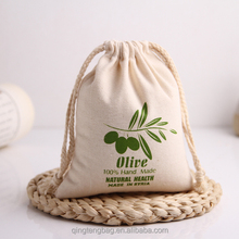 wholesale hot sell drawstring canvas cotton promotion bag