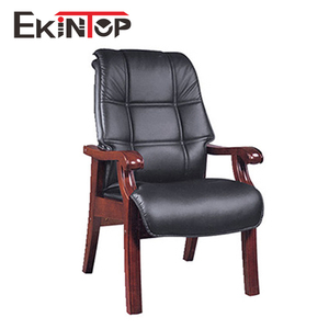 Ekintop antique waiting room wood four legs meeting office chairs