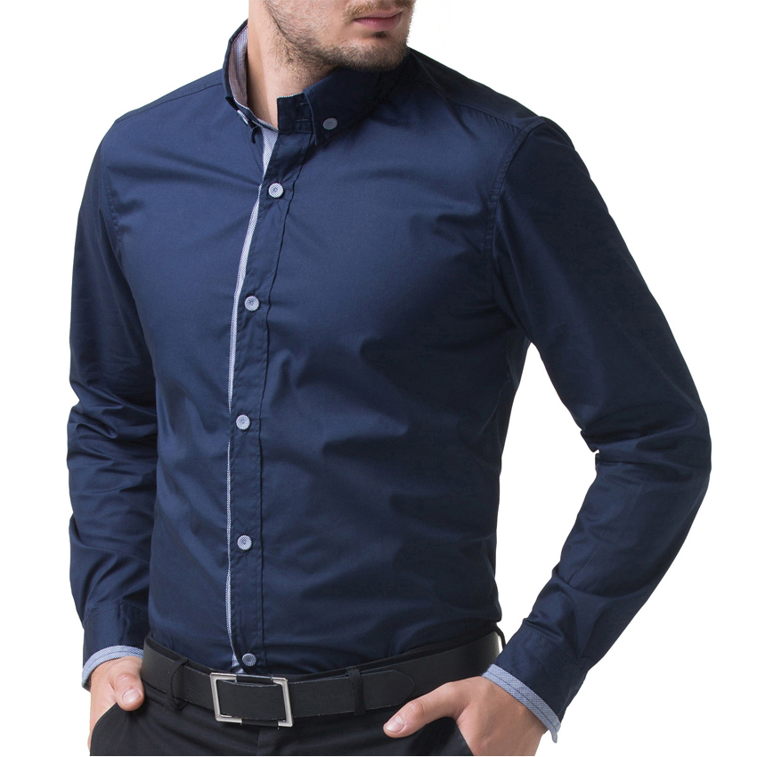 46363fdfe2e Buy Famous Brand Men Shirt 2015 New Arrival Men Long Sleeve Shirt Navy Blue Wine  Red Men Button Up Shirts Casual Camisas CL5247 in Cheap Price on m.alibaba.  ...
